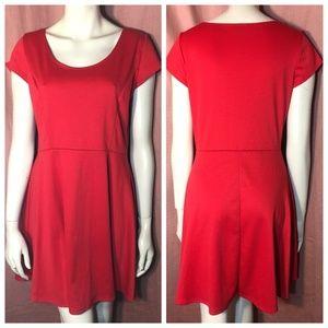 Dresses & Skirts - VALENTINE RED Flirty Skater Date Dress L XL XXL